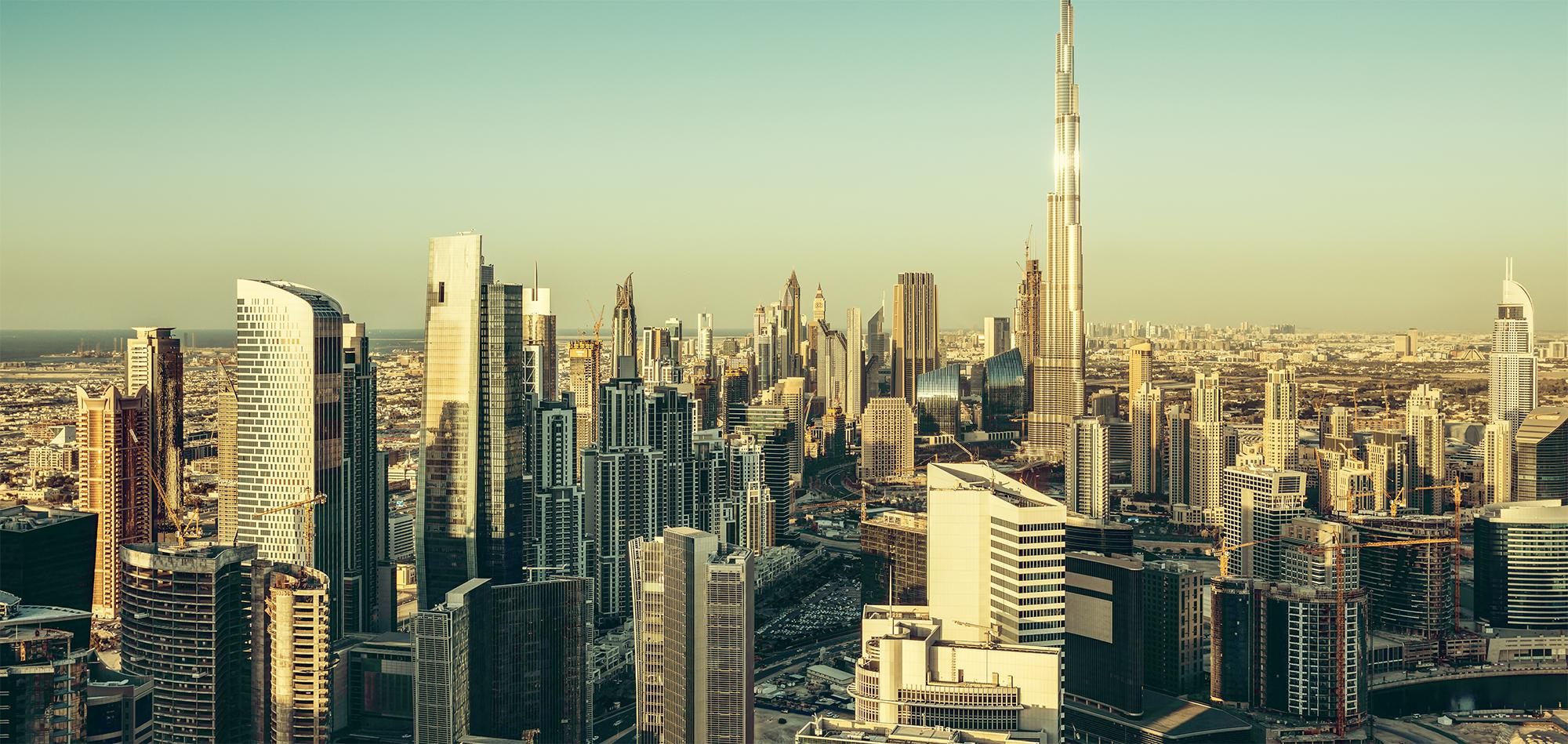 Skyline image of a city