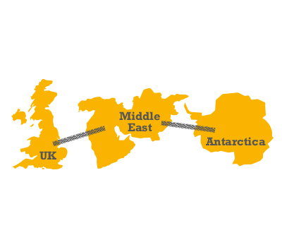 We sell across the world from the UK to the Far East and even as far as Antarctica.
